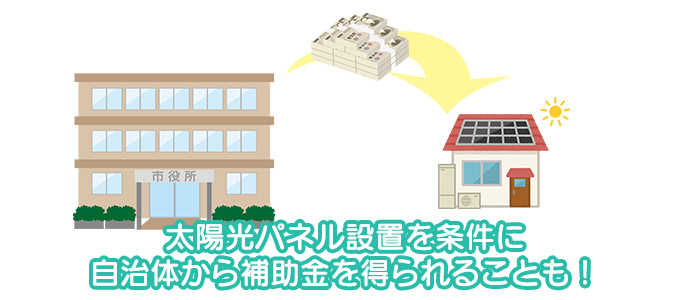 太陽光パネル設置で補助金を得られることも