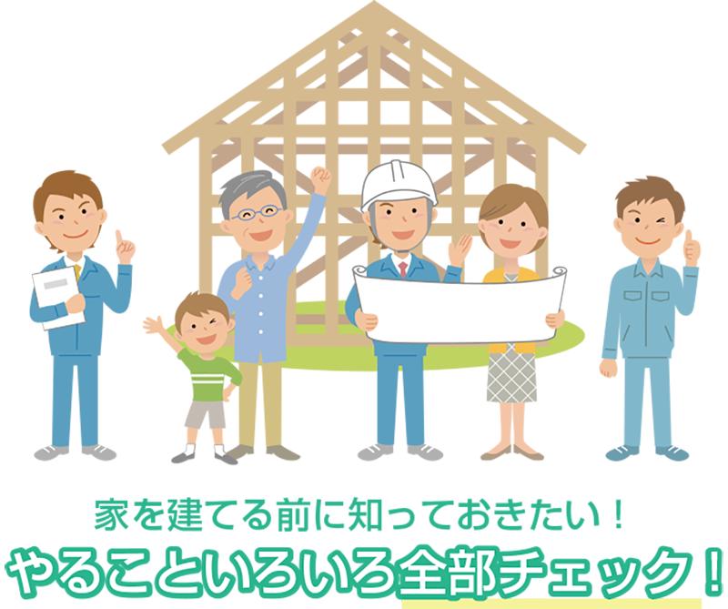 家を建てるためにやるべきことがわかるフローチャート。地鎮祭でのしきたりは?のイメージ