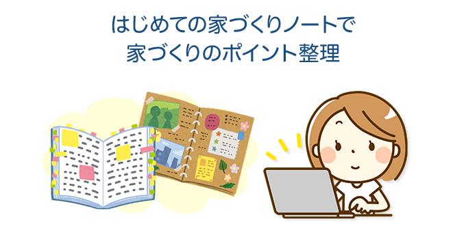 はじめての家づくりノートで家づくりのポイント整理
