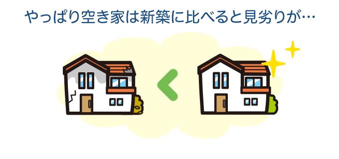 やっぱり空き家は新築に比べると見劣りが…