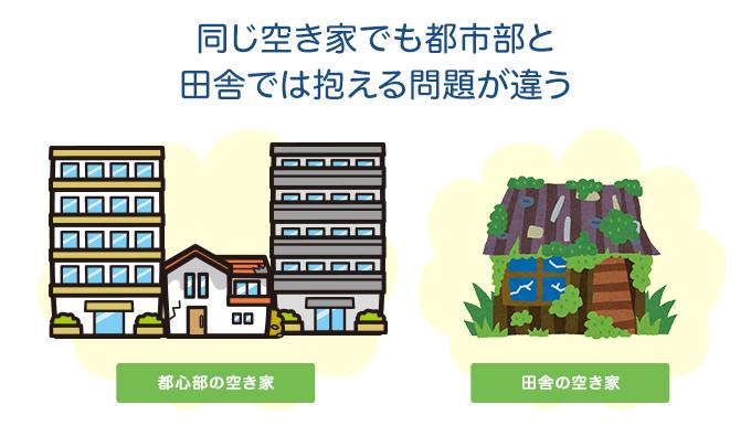 同じ空き家でも都市部と田舎では抱える問題が違う