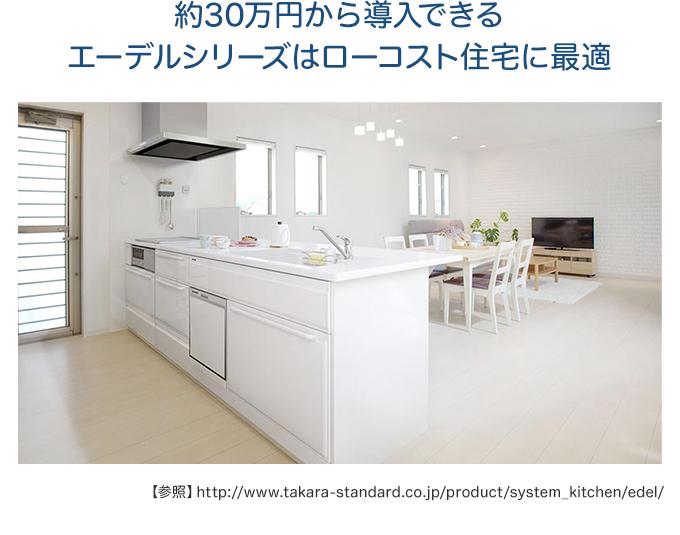 約30万円から導入できるエーデルシリーズはローコスト住宅に最適